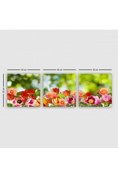 Tablou decorativ din panza (set 3 bucati) Remy 564RMY1327 multicolor
