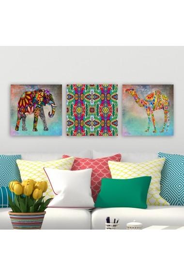Tablou decorativ din panza (set 3 bucati) Remy 564RMY1333 multicolor