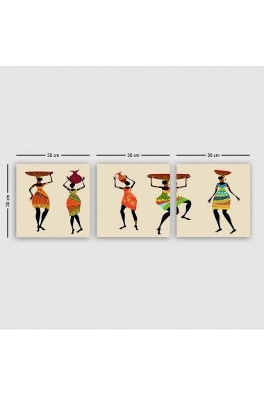 Tablou decorativ din panza (set 3 bucati) Remy 564RMY1337 multicolor