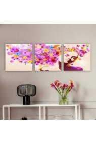 Tablou decorativ din panza (set 3 bucati) Remy 564RMY1340 multicolor