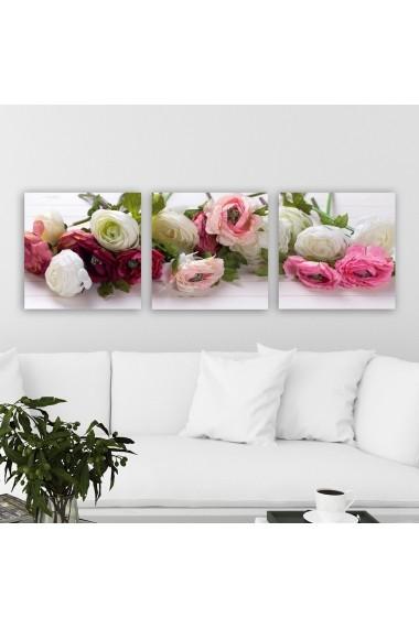 Tablou decorativ din panza (set 3 bucati) Remy 564RMY1343 multicolor