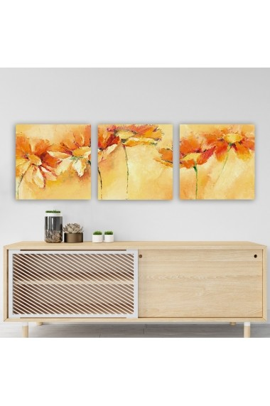 Tablou decorativ din panza (set 3 bucati) Remy 564RMY1344 multicolor