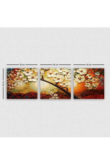 Tablou decorativ din panza (set 3 bucati) Remy 564RMY1345 multicolor