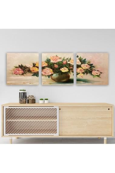 Tablou decorativ din panza (set 3 bucati) Remy 564RMY1348 multicolor