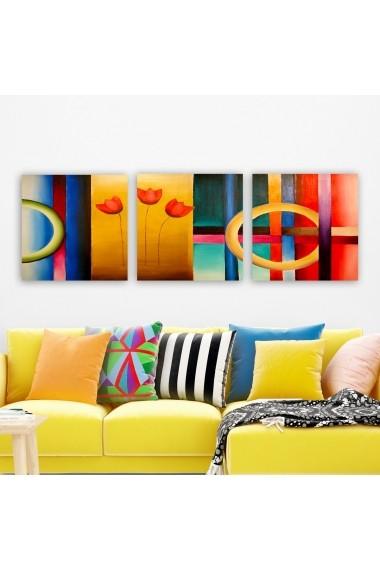 Tablou decorativ din panza (set 3 bucati) Remy 564RMY1351 multicolor