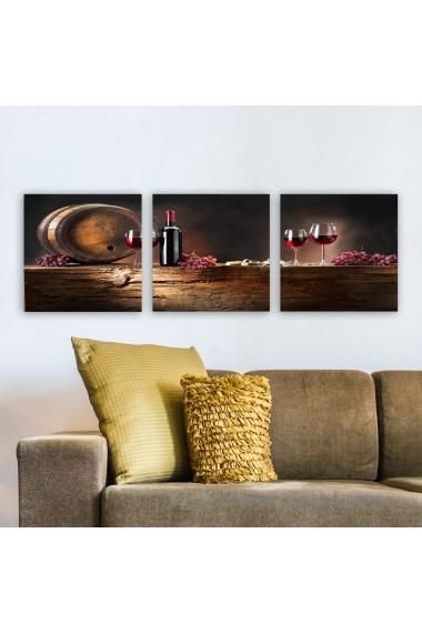 Tablou decorativ din panza (set 3 bucati) Remy 564RMY1360 multicolor
