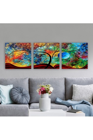 Tablou decorativ din panza (set 3 bucati) Remy 564RMY1367 multicolor