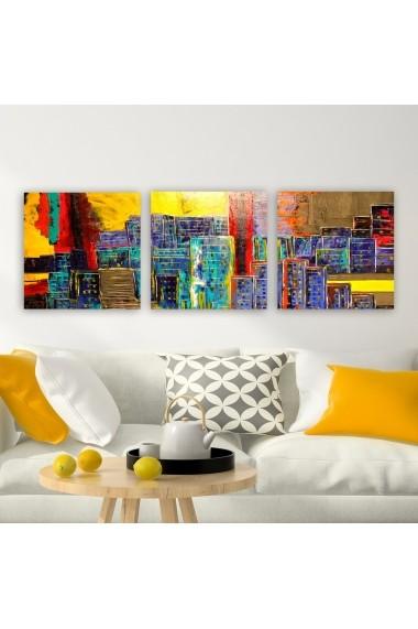 Tablou decorativ din panza (set 3 bucati) Remy 564RMY1370 multicolor