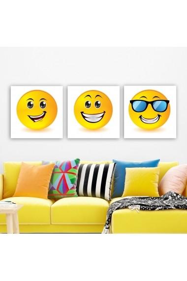 Tablou decorativ din panza (set 3 bucati) Remy 564RMY1371 multicolor