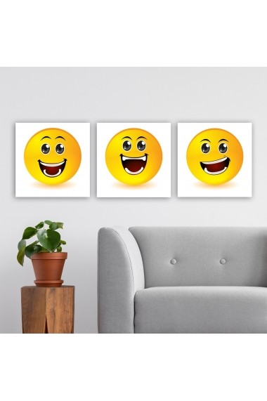 Tablou decorativ din panza (set 3 bucati) Remy 564RMY1374 multicolor