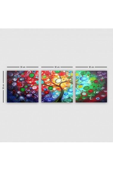 Tablou decorativ din panza (set 3 bucati) Remy 564RMY1378 multicolor