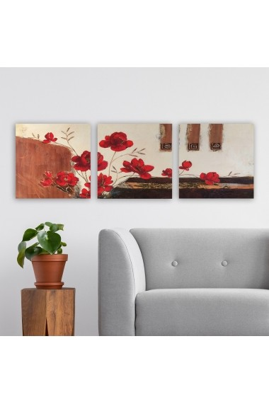 Tablou decorativ din panza (set 3 bucati) Remy 564RMY1379 multicolor