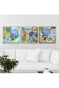 Tablou decorativ din panza (set 3 bucati) Remy 564RMY1384 multicolor