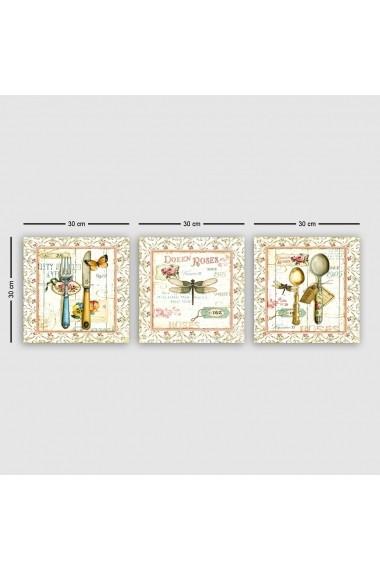 Tablou decorativ din panza (set 3 bucati) Remy 564RMY1385 multicolor