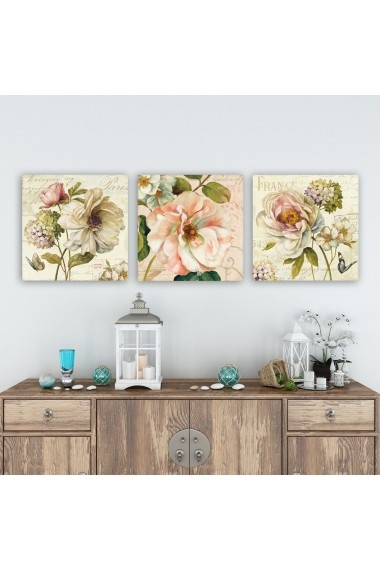 Tablou decorativ din panza (set 3 bucati) Remy 564RMY1388 multicolor