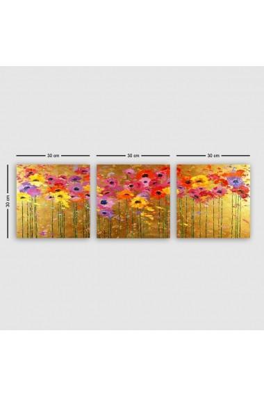 Tablou decorativ din panza (set 3 bucati) Remy 564RMY1390 multicolor
