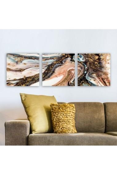 Tablou decorativ din panza (set 3 bucati) Remy 564RMY1393 multicolor