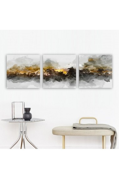 Tablou decorativ din panza (set 3 bucati) Remy 564RMY1396 multicolor