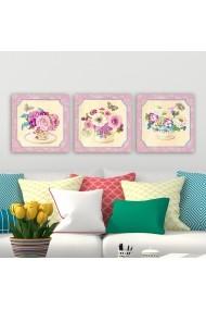 Tablou decorativ din panza (set 3 bucati) Remy 564RMY1401 multicolor