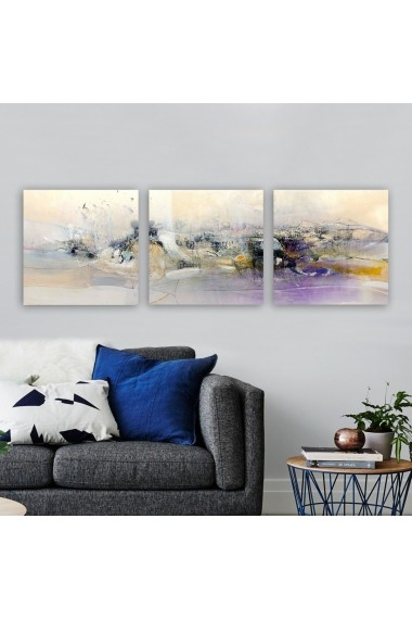 Tablou decorativ din panza (set 3 bucati) Remy 564RMY1403 multicolor