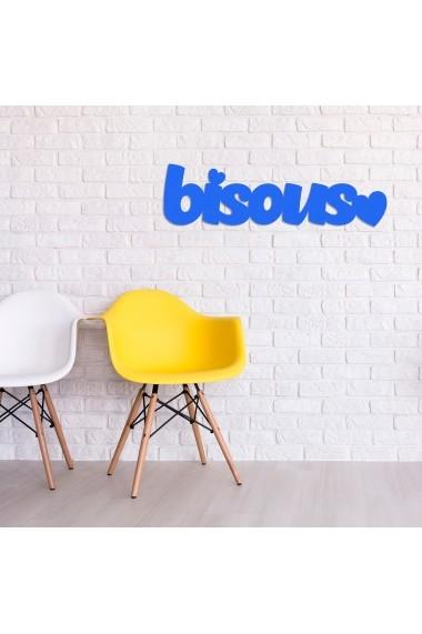 Accesoriu decorativ din lemn Skyler 899SKL1376 albastru