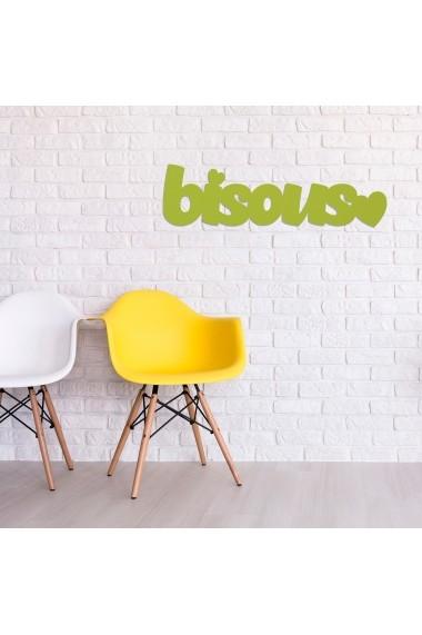 Accesoriu decorativ din lemn Skyler 899SKL1377 verde