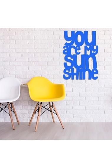 Accesoriu decorativ din lemn Skyler 899SKL1356 albastru