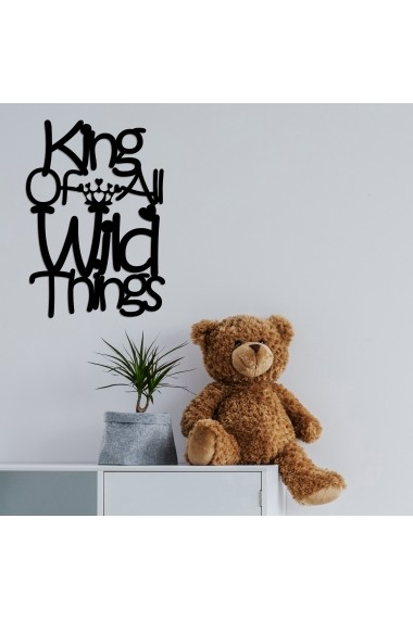 Accesoriu decorativ din lemn Skyler 899SKL1370 negru