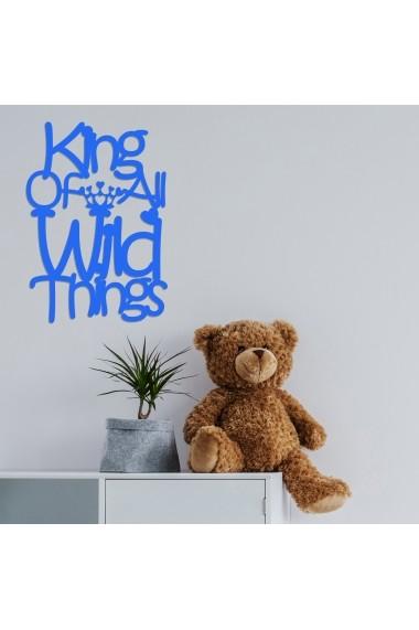 Accesoriu decorativ din lemn Skyler 899SKL1371 albastru