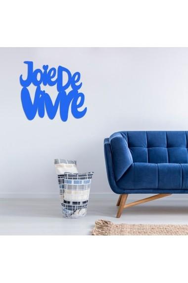 Accesoriu decorativ din lemn Skyler 899SKL1381 albastru