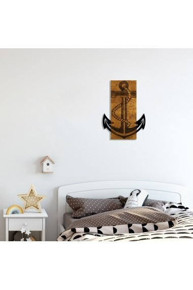 Accesoriu decorativ din lemn Skyler 899SKL1339 maro