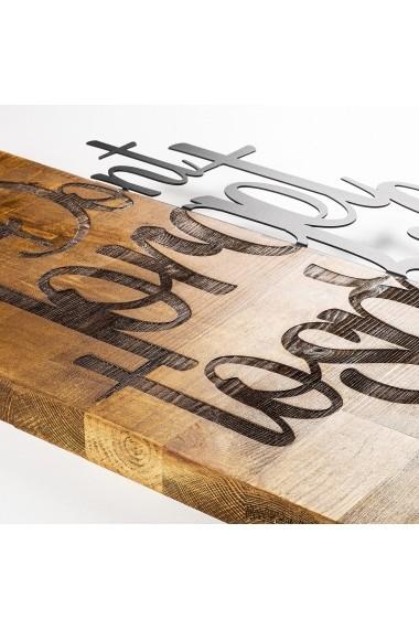 Accesoriu decorativ din lemn Skyler 899SKL1335 maro