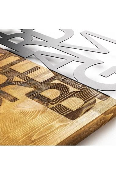 Accesoriu decorativ din lemn Skyler 899SKL1333 maro