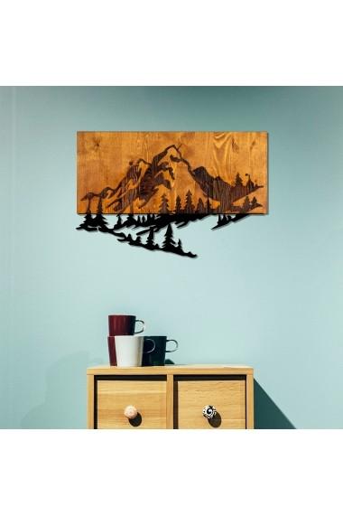 Accesoriu decorativ din lemn Skyler 899SKL1284 maro
