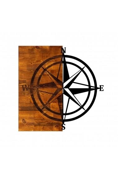 Accesoriu decorativ din lemn Skyler 899SKL1278 maro