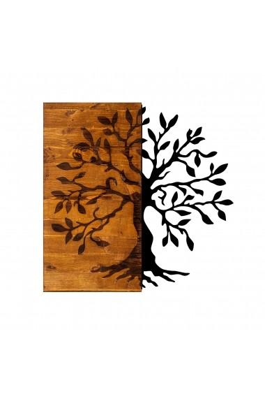 Accesoriu decorativ din lemn Skyler 899SKL1280 maro