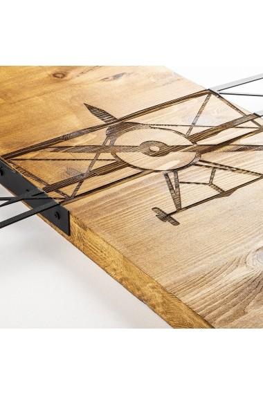 Accesoriu decorativ din lemn Skyler 899SKL1328 maro