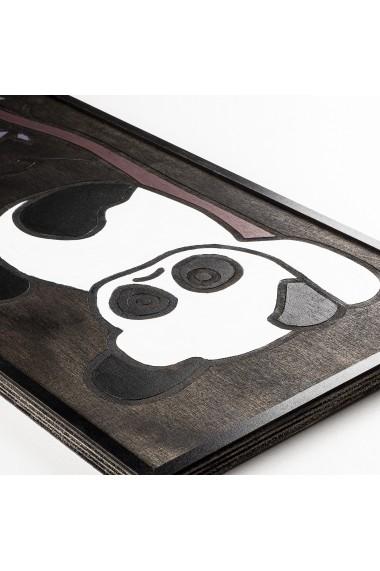 Accesoriu decorativ din lemn Skyler 899SKL1324 negru