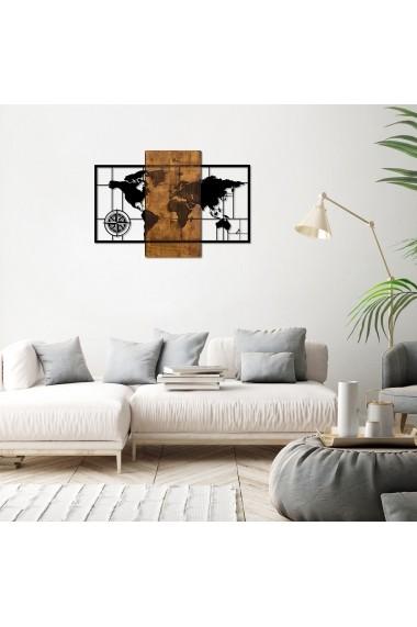 Accesoriu decorativ din lemn Skyler 899SKL1330 maro