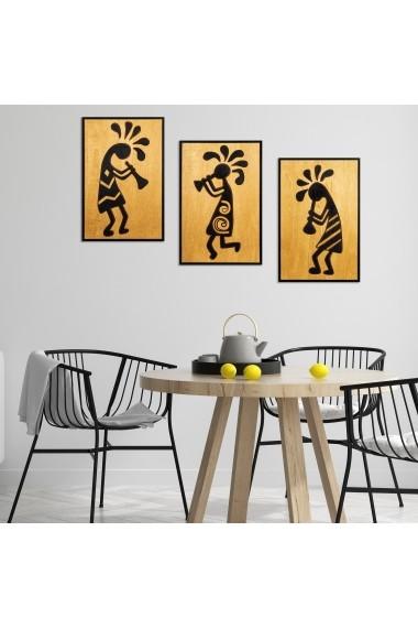 Accesoriu decorativ din lemn Skyler 899SKL1275 multicolor
