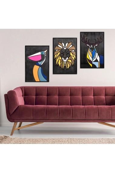 Accesoriu decorativ din lemn Skyler 899SKL1269 multicolor