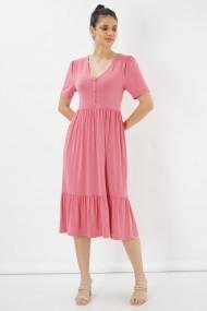 Rochie midi Clementine 580CMT2116 roz