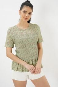 Bluza cu maneca scurta Clementine 580CMT1511 verde
