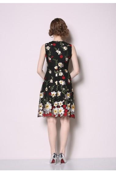 Rochie midi de zi Tina HCX-6505 Floral - els
