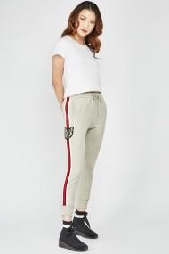 Спортен панталон eOutlet FVP-653963-295085 Сив