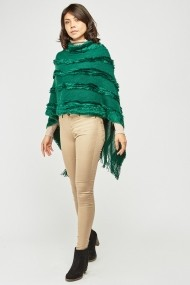 Poncho eOutlet 654295-295624-115273 Verde