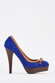 Pantofi cu toc 627724-242914 Albastru