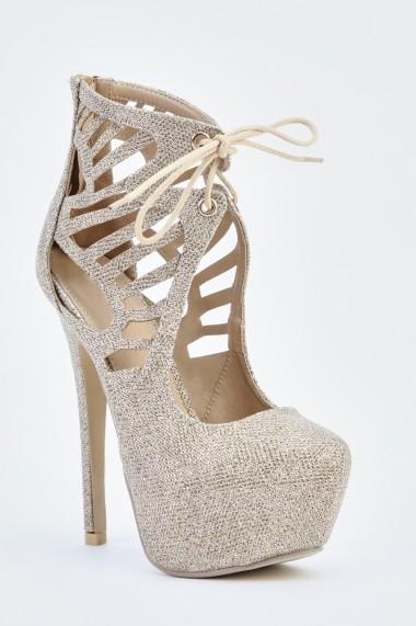 Pantofi cu toc 626851-241258 Argintiu