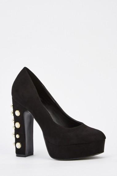 Pantofi cu toc 628191-243845 Negru