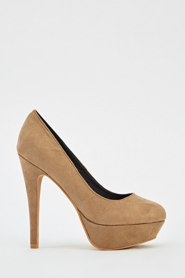 Pantofi cu toc 625494-240827 Gri-bej